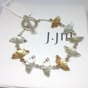 J. Jill - Graceful Ginkgo Leaves Bracelet - NWT